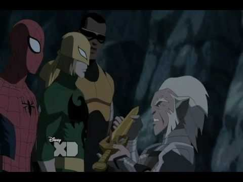 Ultimate Spider-Man 2012 Iron Fist moments