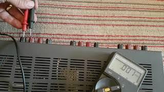 NAD 916, fault on speaker channel 3 ..