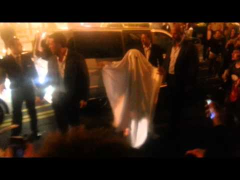 Lady Gaga in Paris dressed up as a ghost
