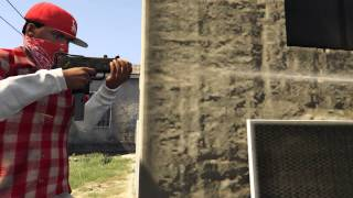 GTA 5 - Mac 10 and Tec 9 mod with Blood gang clothes