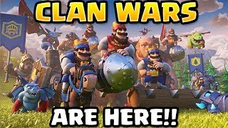 CLASH ROYALE CLAN WARS ARE HERE!! - Update News & Leaks | Clash Royale April Update 2018