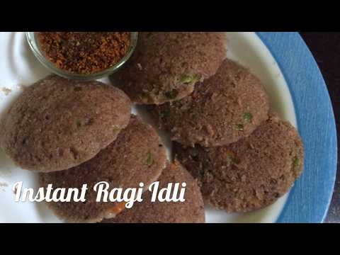 Vegetable Ragi Idli (Healthy Instant Breakfast Recipe) Instant Ragi Rava Idli Recipe In Telugu