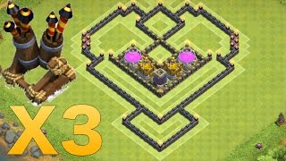 Clash of Clans - NEW TH7 Farming Base with 3 Air Defense & Air Sweeper