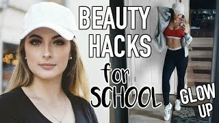 8 BEAUTY HACKS to Make You GLOW UP For School