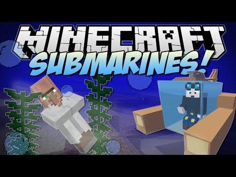 Minecraft   SUBMARINES! (Underwater Villages. Atlantis Tools & More!)   Mod Showcase
