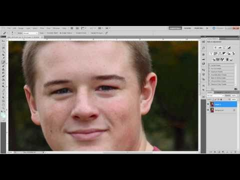 Removing acne and wrinkles CS5