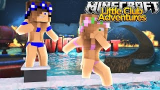 Little Kelly & Little Carly PLAY WATER SPORTS!!! - Minecraft Little Club Adventures