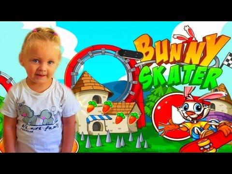 Кролик скейтер Игра как мультик для детей