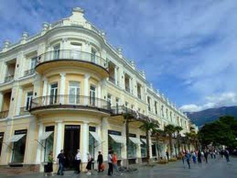 ЯЛТА 2013 - Осень НАБЕРЕЖНАЯ вилла София ШТОРМ Yalta Crimea 10.10.2013