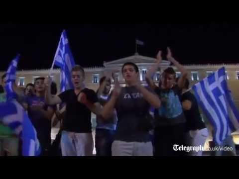 Greece football fans: 'We have to beat Germany and Merkel at Euro 2012'