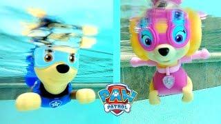 Paw Patrol Pool Party Bath Toys Paddlin Pup Underwater Toys
