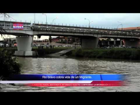 Lluvias provocan creciente en el rio bravo, Muerte y Caos