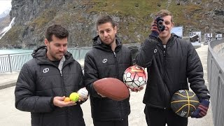 Magnus Effect Vs. Sports Balls from 200m Dam!
