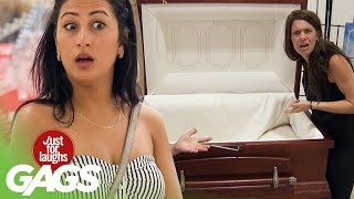 Crazy Wife Forces Husband Into Coffin - Just For Laughs Gags