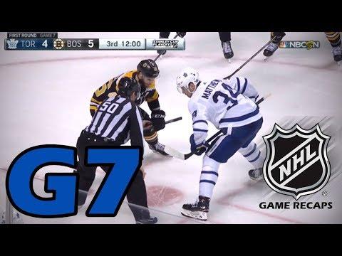 Toronto Maple Leafs vs Boston Bruins. 2018 NHL Playoffs. Round 1. Game 7. 04.25.2018 HD
