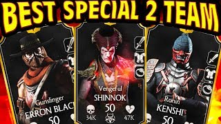 MKX Mobile 1.14. VENGEFUL SHINNOK BEST SPECIAL 2 TEAM. 300K DAMAGE SPECIAL 2!