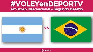 Argentina vs Brasil Amistoso Internacional de Vley En vivo desde El Calafate VOLEYenDEPORTV