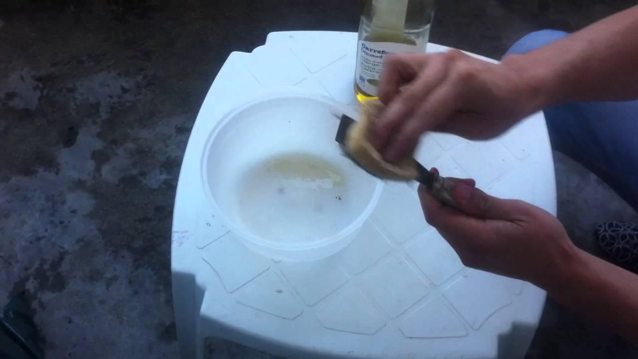 Enlever points de rouille astuce nettoyage youtube - Enlever une tache d huile ...