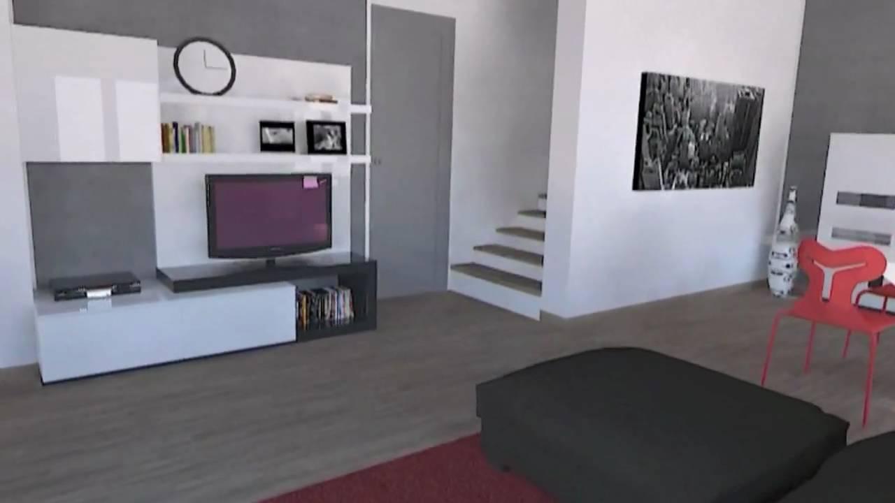 Progettazione 3d arredamento soggiorni living youtube for Progettazione di mobili 3d online