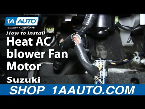 How To Install Replace Heat AC blower Fan Motor 2001-02 Suzuki XL-7