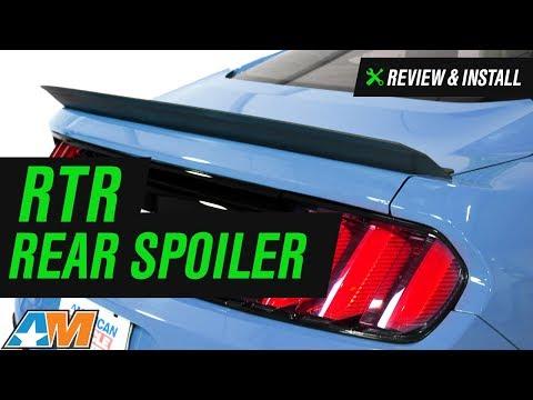 2015-2017 Mustang RTR Rear Spoiler Review & Install
