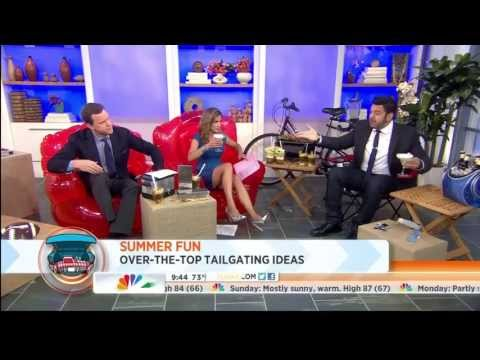 Natalie Morales great leg shots 7-11-2013