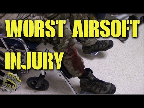 DesertFox Airsoft: Worst Airsoft Injury (OPLCMSS: Red Storm West 2014)