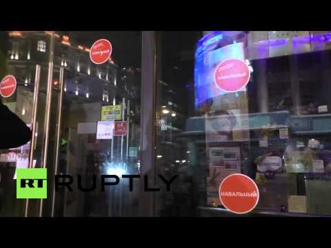 Russia: Arrests at unsanctioned pro-Navalny rally in Moscow