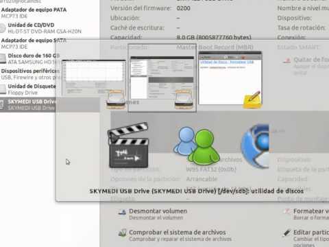 Utilidad de Disco - Formatear USB