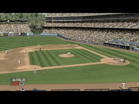 MLB 2K13: Gameplay - Dodgers vs Giants