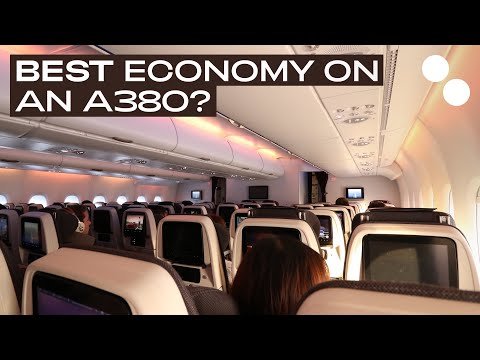 QATAR AIRWAYS A380-800 ECONOMY CLASS QR041 PARIS - DOHA