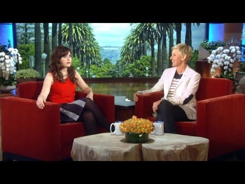 Zooey Deschanel Crashes Ellen's Party