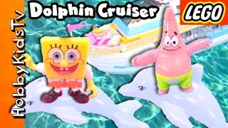 DOLPHIN Cruiser Lego Friends! Spongebob + Patrick Jet Ski SURPRISE Chocolate Egg by HobbyKidsTV