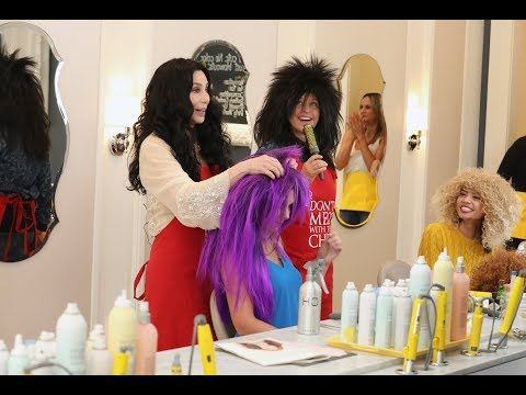 Cher & Ellen Take Over as Hairstylists at Drybar