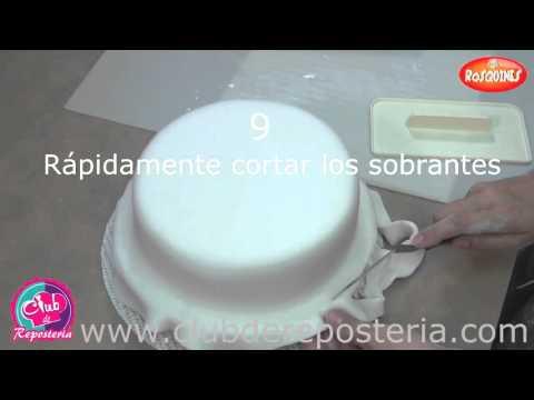 Cómo Cubrir una Torta Redonda con Fondant