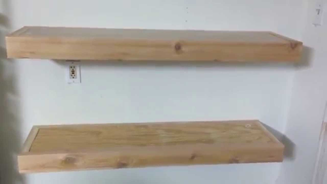 Cedar 2x4 Floating shelves custom - YouTube