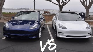 Performance Tesla Model 3 Vs. Long Range Tesla Model 3