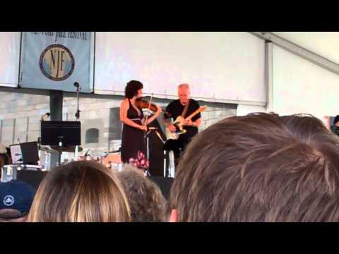 Jenny Scheinman and Bill Frisell duo performance at 2012 Newport Jazz Festival.