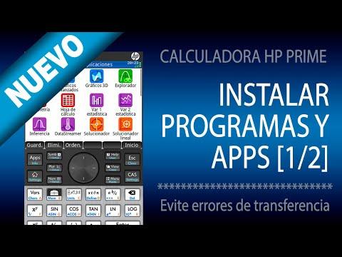 Instalar o enviar Programas y Apps [1/2] | HP Prime