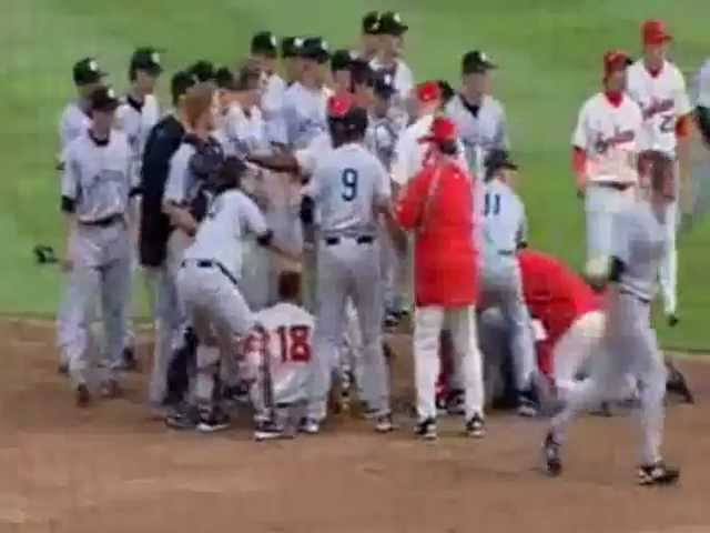 YANKEES VS RED SOX BASEBALL FIGHT