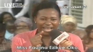 SCOAN 27/07/14: Girl Delivered From LUCIFER Anointing Water Testimony, Emmanuel TV