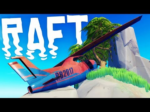 RAFT - Finding A CRASHED PLANE? - Killing The Screecher Bird Boss - Raft Gameplay