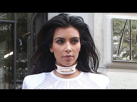 Kim Kardashian Attacked By Prankster at Paris Fashion Week