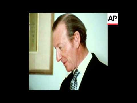 SYND  16-2-73  UN SECRETARY GENERAL, KURT WALDHEIM, MEETS EMPOROR HIROTO OF JAPAN