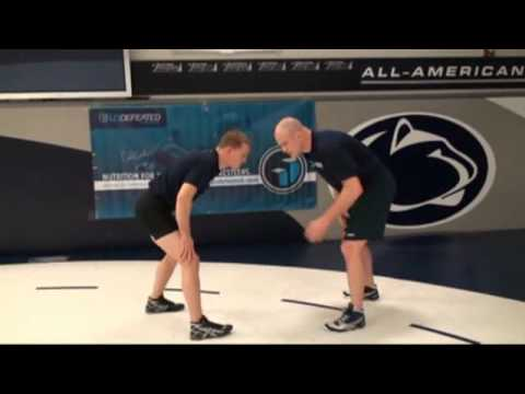 Cael Sanderson and Ricky Lundell demonstrate the Ankle Pick