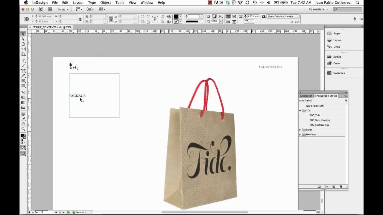 Creating a Table of Contents in InDesign CS6 PART 3 - YouTube