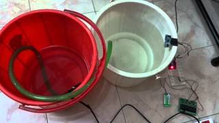 Arduino Water level controller using Ultrasonic se