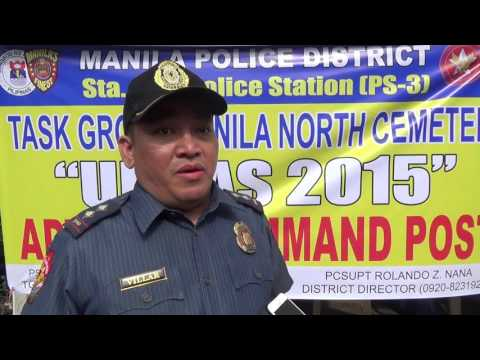 Hundreds of prohibited items confiscated at Manila North Cemetery