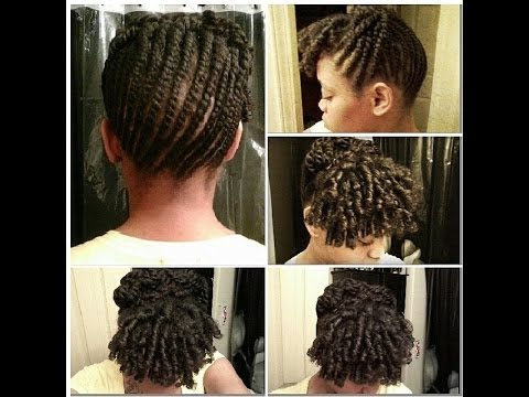 Flat Twist Updo With Flexi Rods YouTube