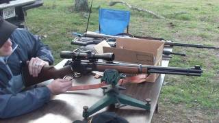 "Marlin Model 336 hitting 16"" rounds at 400 meters (437 yards)"